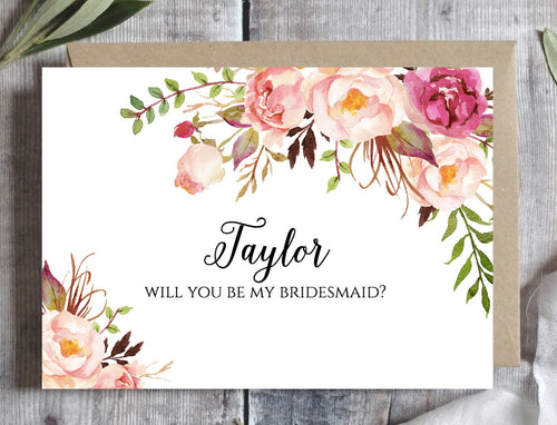 picture relating to Will You Be My Bridesmaid Printable identified as Bridesmaid Proposal Card Printable Tagged