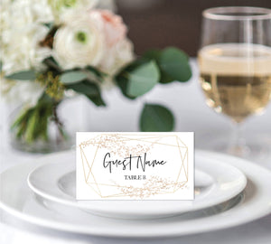 photo about Gold Printable Place Cards named Room Playing cards Printable MagnoliaPapers