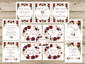 picture about Printable Wedding Signs identify Marriage ceremony Indications Printable Tagged \