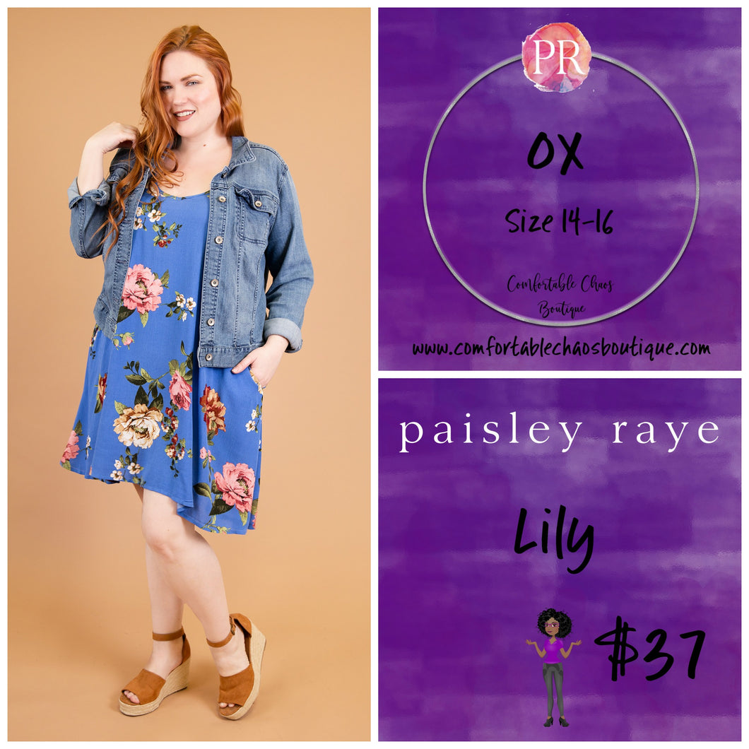Lily - Blue Floral (0X)