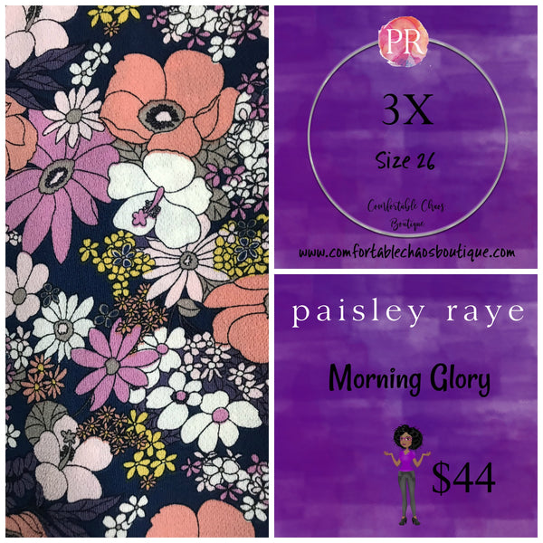 Morning Glory - Navy Floral (3X)