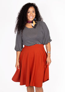 Bloom Skirt - Dark Orange