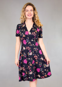 comfortable-chaos-boutique - Dahlia - Navy Floral - Dress