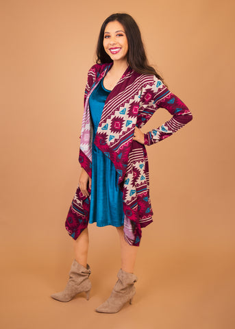 comfortable-chaos-boutique - Dusty Miller - Pink Aztec - Layering