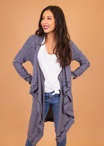 comfortable-chaos-boutique - Dusty Miller - Blue and White Stripe - Layering