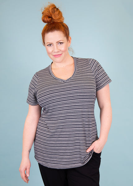 comfortable-chaos-boutique - V-Neck Tee - Top