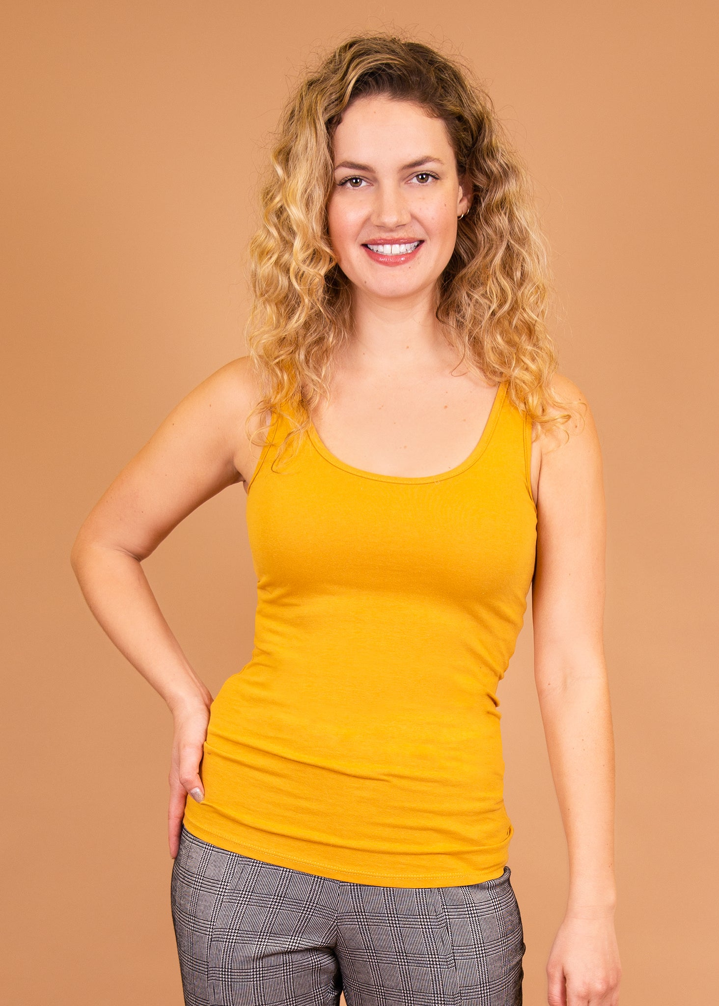 comfortable-chaos-boutique - Layering Tank - Mustard - Top