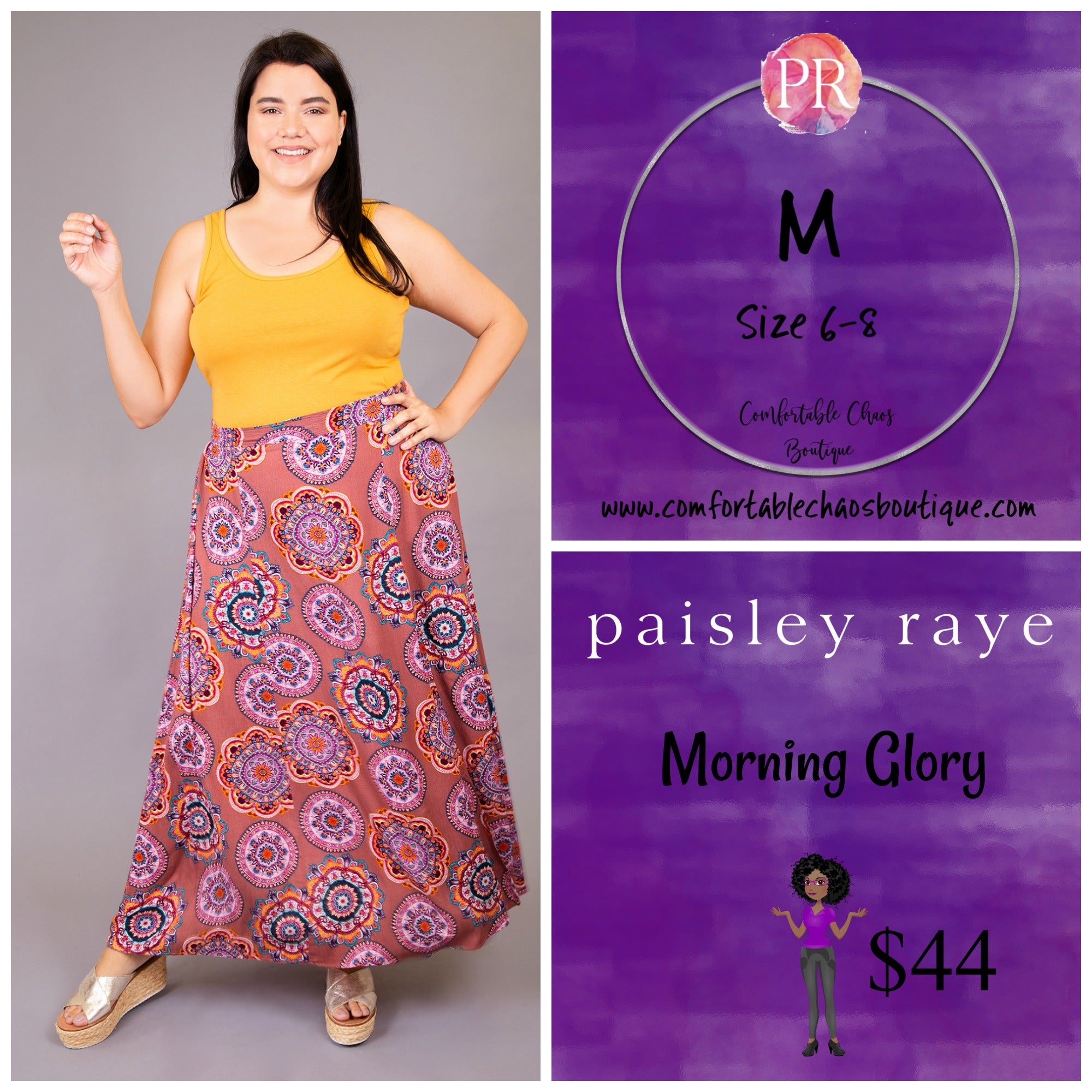 comfortable-chaos-boutique - Morning Glory - Medallion Pattern (M) - Skirt