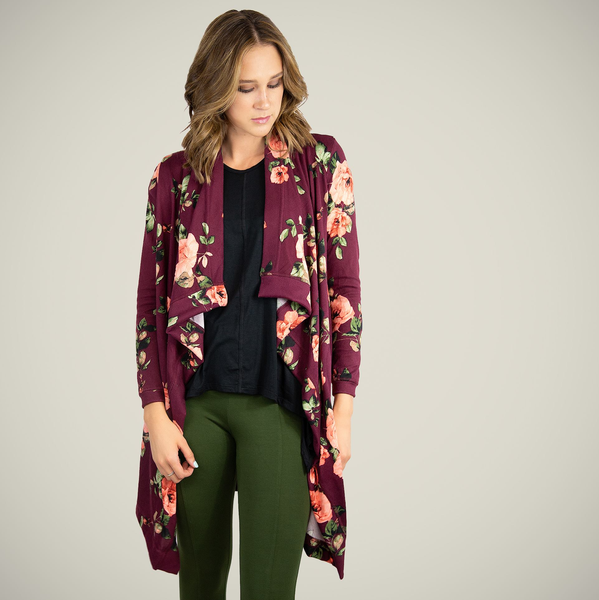 comfortable-chaos-boutique - Dusty Miller - Maroon Floral - Layering