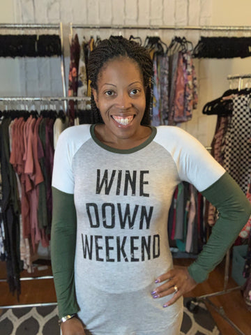 comfortable-chaos-boutique - Wine Down Weekend Tee -