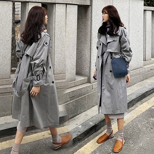 Winter casual loose trench coat
