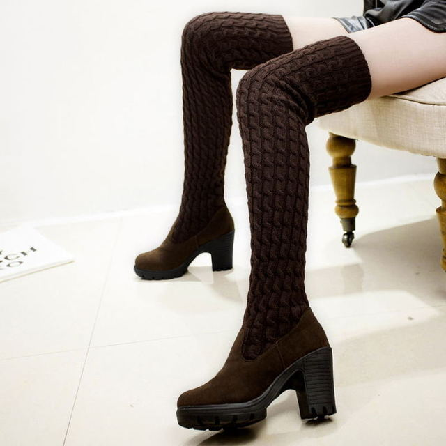 Winter Thigh High Boots For Woman