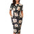 Floral Pockets O-Neck Formal Business Dress