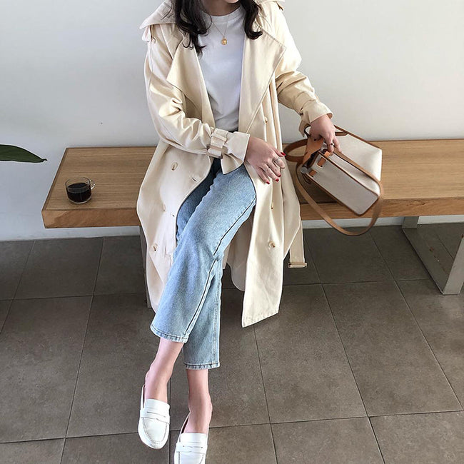 Women's Double-Breasted Trench Coat