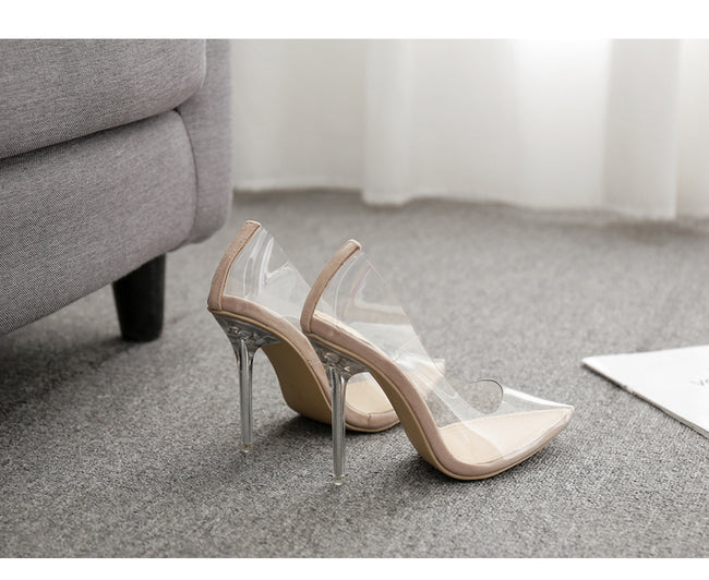 Fashion PVC Woman Transparent Sandals