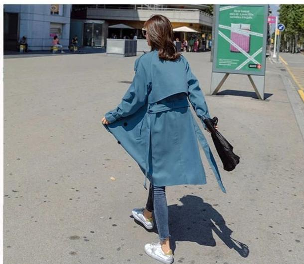 Fashion Windbreaker Coats Long section
