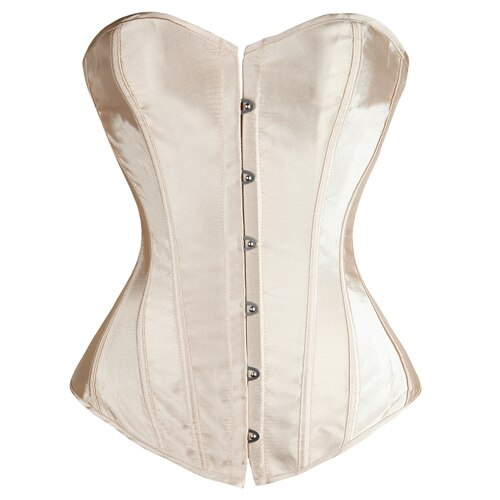7 Colors Boned Satin Plus Size Corset