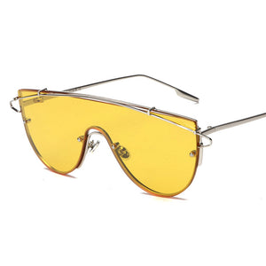 Square Mirror Alloy Luxury Brand Fashion Sunglasses