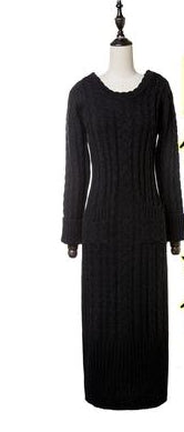 Winter Women's Wool Knit Dress