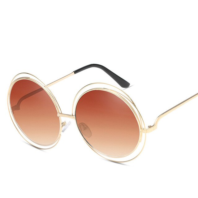 Vintage Round Big Over sized lens Pink Sunglasses