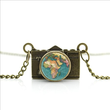 New Arrived DIY Globe Camera Necklace
