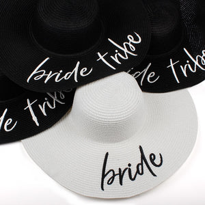 Bride Tribe beach wedding floppy Mrs Sequin Sun Hats