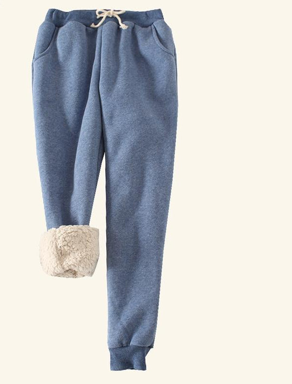 Autumn Winter Women Fleece Sweatpants Trousers