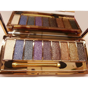 9 colors matte nude glitter eye shadow palette makeup