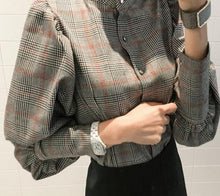 Load image into Gallery viewer, Autumn Striped Women's Shirt Blouse