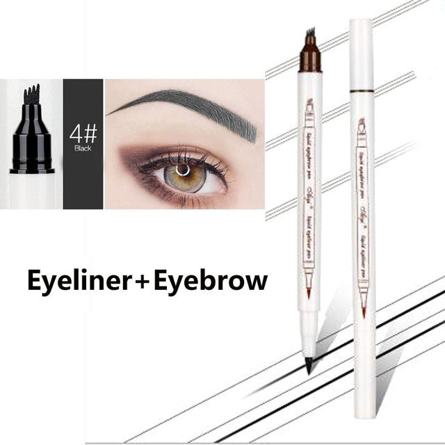 Brand New Eyebrow Pencil Waterproof Fork Tip Eyebrow Tattoo Pen