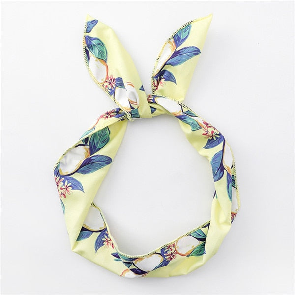 Summer Bohemian Style Print Headbands For Women
