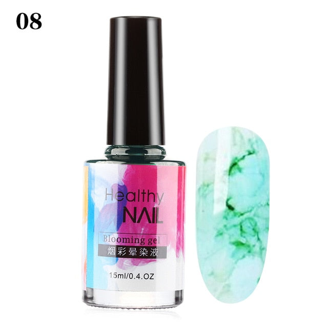 15ml Watercolor Ink Marble Smudge Liquid Decor Nail Art