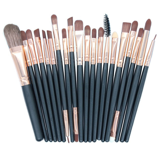 20pcs/lot Wooden Professional Handle Pro Makeup Brushes Set Eye Shadow