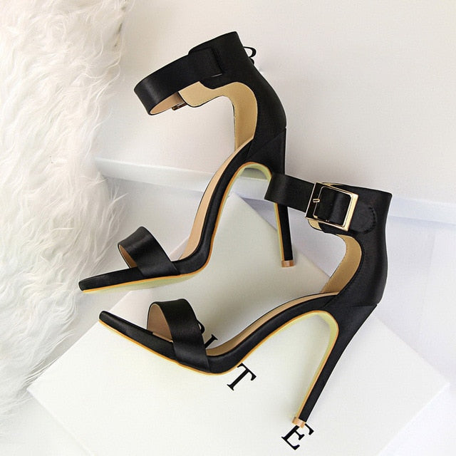 Women Classic Satin High Heel