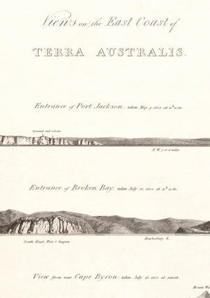 1814 Views on the east coast of Terra Australis