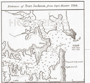 1814 Chart of the East Coast of Terra Australis, Sheet 1