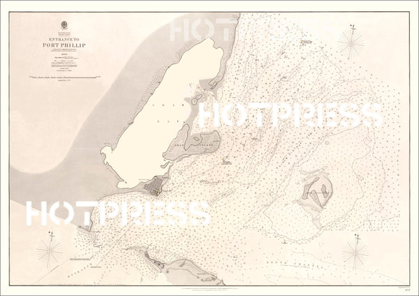 1860 Entrance to Port Phillip Chart