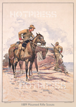 1889 Our Defenders - Victorian Mounted Rifles Scouts