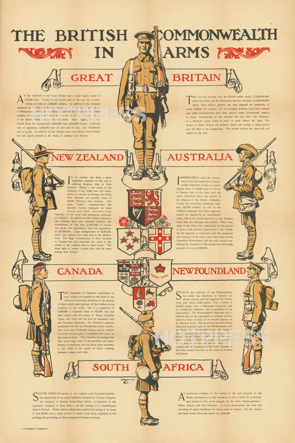 1915 British Commonwealth In Arms