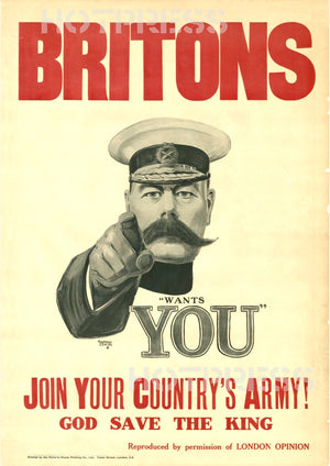 1914 Britons Kitchener Wants You