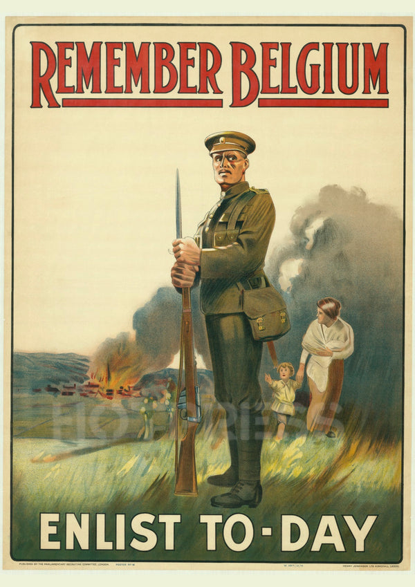 1915 Remember Belgium - Enlist Today