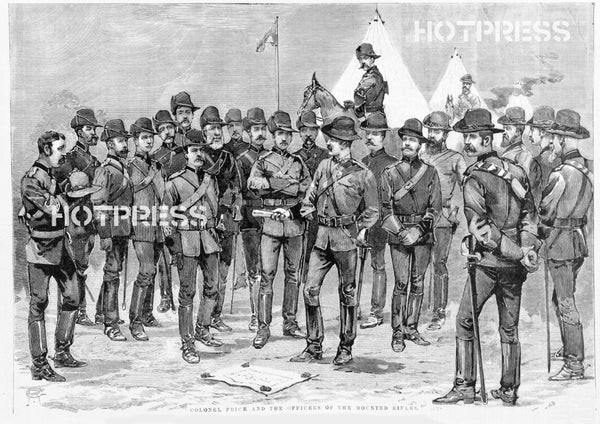 1887 Colonel Price and Victorian Mounted Rifles