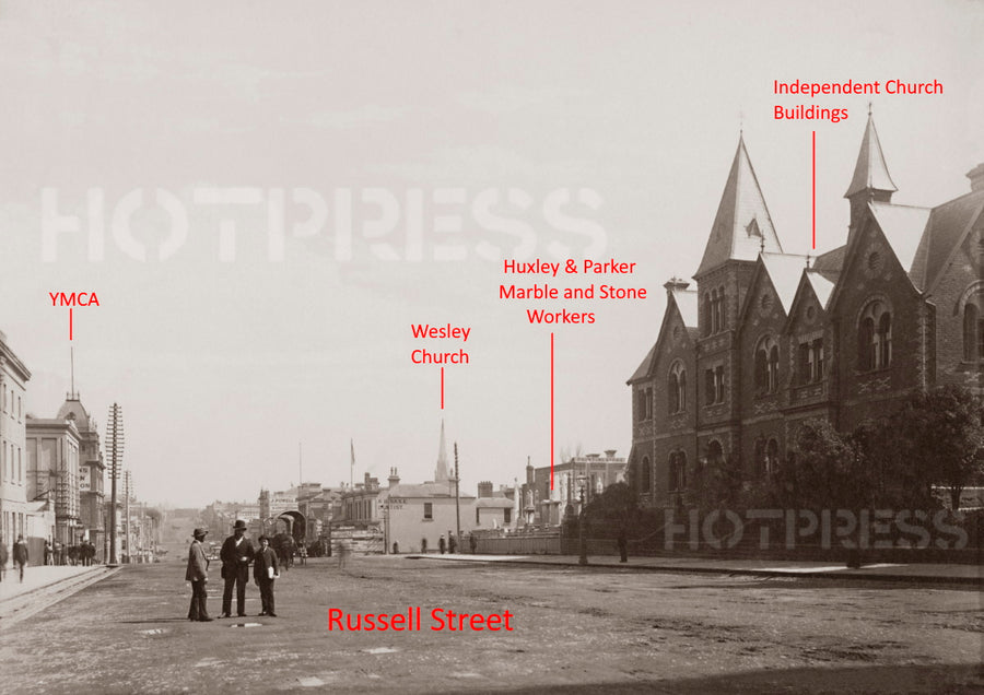 1880c Russell Street looking north from Collins Street