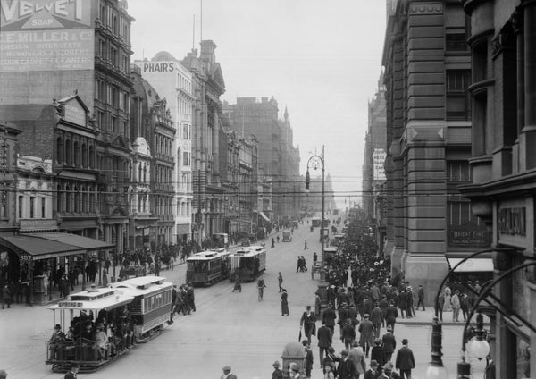 1916 Collins Street looking West from Elizabeth Street