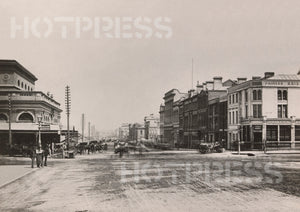1875 Flinders Street looking West