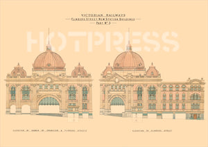 1900 Plans of Flinders Street Station
