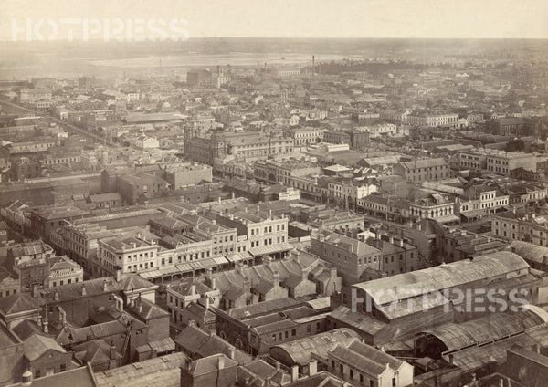 1875 Melbourne Looking North West from Scots' Church