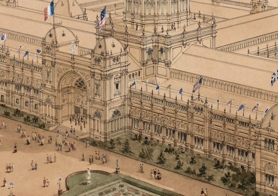1880 Exhibition Building Drawing