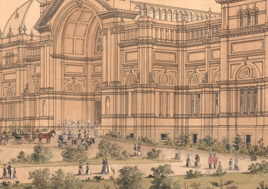 1880 Exhibition Building Drawing - Ground Level