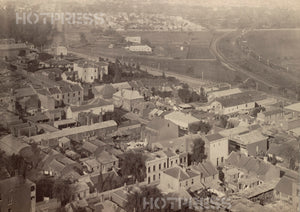1875 Melbourne Looking South East from Scots' Church